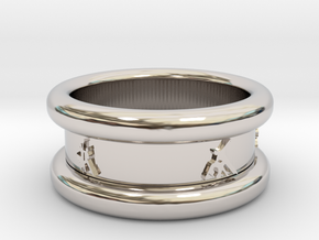 Salsa Ring 1  Ø 17.5 mm 55 in Rhodium Plated Brass