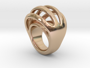 RING CRAZY 15  -  ITALIAN SIZE 15 in 14k Rose Gold Plated Brass