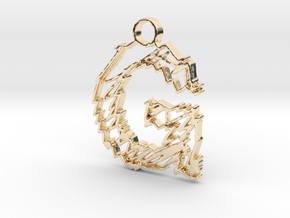 """Sketch """"G"""" Pendant in 14k Gold Plated Brass"""