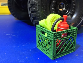 Milk Crate 1:10 Scale in Green Strong & Flexible Polished
