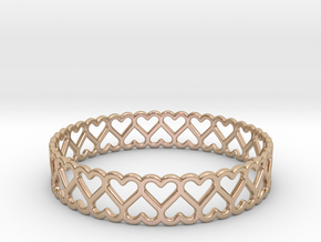 The Bracelet of Hearts in 14k Rose Gold