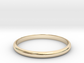 Standerd Ring Size 8 in 14K Yellow Gold