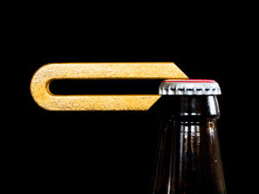 Leverage Bottle Opener in Polished Gold Steel
