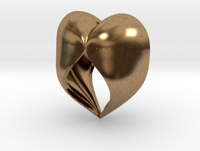 Heartful in Natural Brass