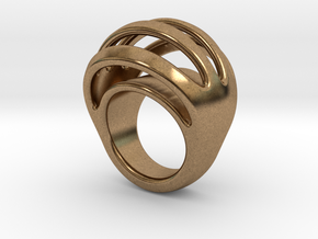 RING CRAZY 18 - ITALIAN SIZE 18 in Natural Brass