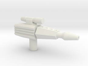 Laser Pistol in White Natural Versatile Plastic
