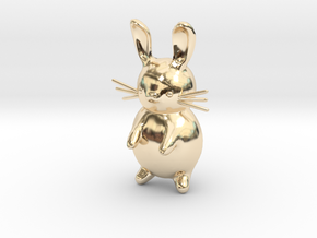 Cartoon Rabbit  in 14K Yellow Gold