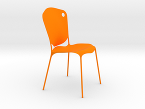 chair dot (1:8) in Orange Processed Versatile Plastic