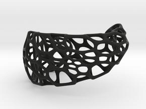 Spiral Cuff in Black Natural Versatile Plastic: Large