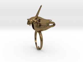 Unicorn Ring in Natural Bronze