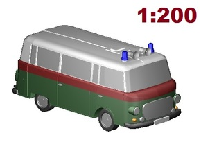 Barkas Volkspolizei (1:200 scale) in Smooth Fine Detail Plastic