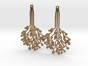 Circuit Tree Earrings in Natural Brass
