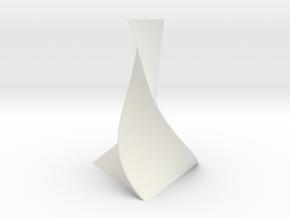 Flower-Vase-01 (30CM) in White Strong & Flexible