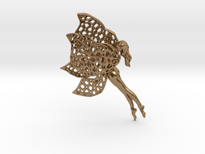 Flittering fairy in Natural Brass