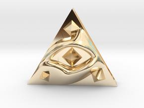 Sacredillumination in 14k Gold Plated Brass