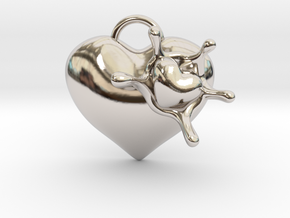 LoveSplash in Rhodium Plated Brass