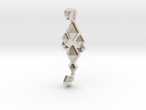SacredScorpio pendant  in Rhodium Plated Brass