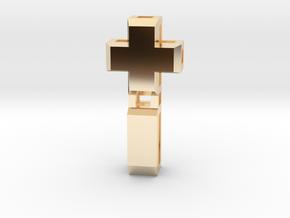 Realist cross in 14k Gold Plated Brass