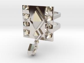 SacredScorpio ring size 8 U.S. in Rhodium Plated Brass