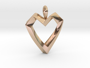 Impossible Love Pendant in 14k Rose Gold Plated Brass