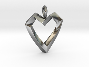 Impossible Love Pendant in Polished Silver