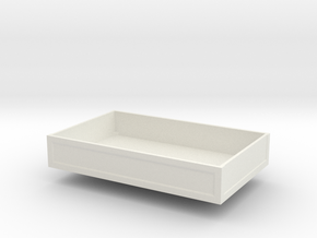 Ballastbox-13.5mmhigh in White Natural Versatile Plastic