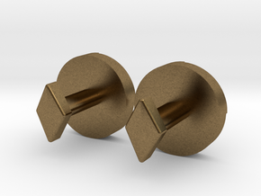 Shield Knot cuff links in Natural Bronze