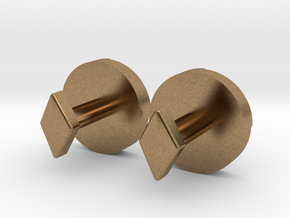 Shield Knot cuff links in Natural Brass
