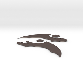BATARANG in Polished Bronzed Silver Steel
