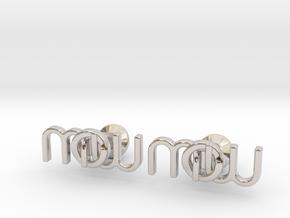 Monogram Cufflinks MWO in Rhodium Plated Brass