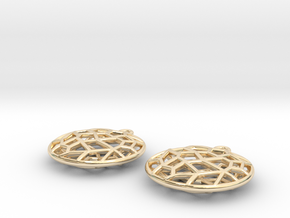 Cell Earrings - small in 14k Gold Plated Brass