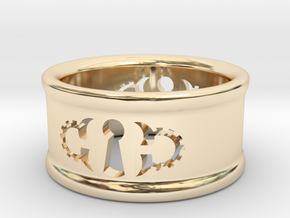 Custom Keyhole Steam: Ring Size 7 in 14k Gold Plated Brass