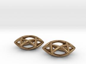 Star Of David earrings (pair) in Natural Brass