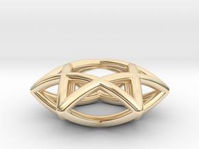Star Of David, mini in 14k Gold Plated Brass