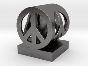 Peace on Peace Small in Polished Nickel Steel