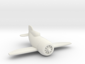 Gee Bee Racer in White Natural Versatile Plastic