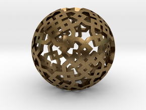 Cubical two-point pattern in Natural Bronze