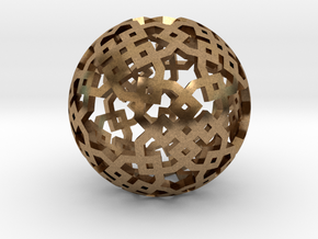 Cubical two-point pattern in Natural Brass
