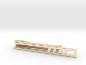 Minimalist Tie Bar - Quad Slash in 14k Gold Plated Brass
