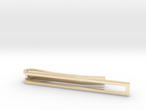 Minimalist Tie Bar in 14k Gold Plated Brass