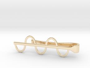 Sine Wave Tie Bar (Metals) in 14k Gold Plated Brass