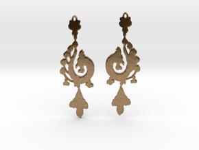 Dragon Earrings in Natural Brass