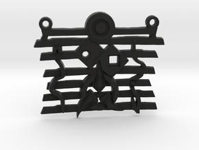 Warrior Ethos Pendant 146075 in Black Natural Versatile Plastic