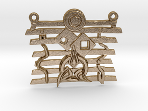 Warrior Ethos Pendant 146075 in Polished Gold Steel