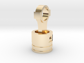Piston Pendant in 14k Gold Plated Brass