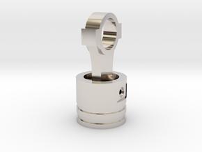 Piston Pendant in Rhodium Plated Brass