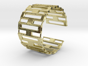 Jackson cuff bracelet (small/medium, loose fit) in 18k Gold Plated Brass