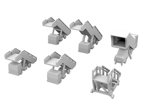 1:400 - Airstair_v1,2,3,4,5 & 6 [x1] in Smooth Fine Detail Plastic