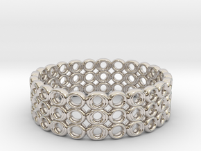 Ring Bracelet in Rhodium Plated Brass