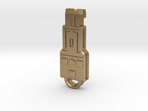 Vector Key in Polished Gold Steel